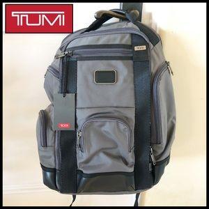 TUMI Grey/Black Computer Backpack. Brand New.